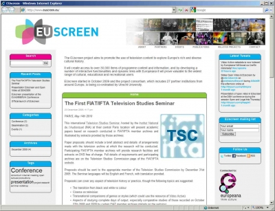EUscreen launches its website