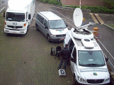 Satellite Uplink at the ZOL Hospital in Genk (Belgium)