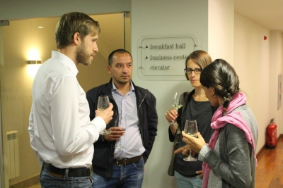 Reception after project meeting