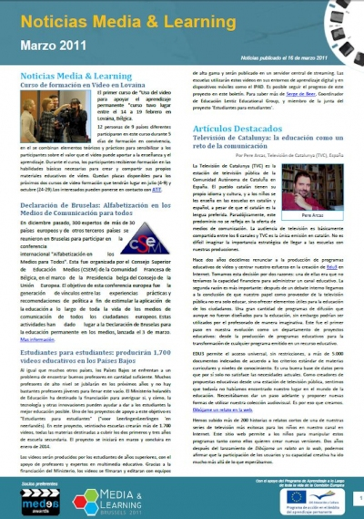 Front cover March edition in Spanish