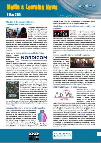 Media & Learning News May 2015