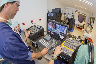 The ATiT production team at the Heilig Hart Hospital