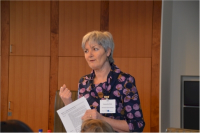 Sally Reynolds from ATiT during the workshop at the Grensverleggers conference