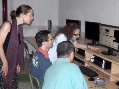 Italian teachers at work editing their videos