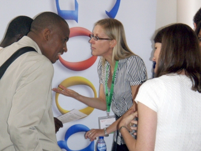 Google, one of the exhibitors and sponsors at eLearning Africa 2008