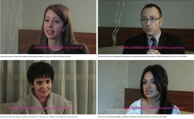 Screenshot of the interviews with the 2009 award winners