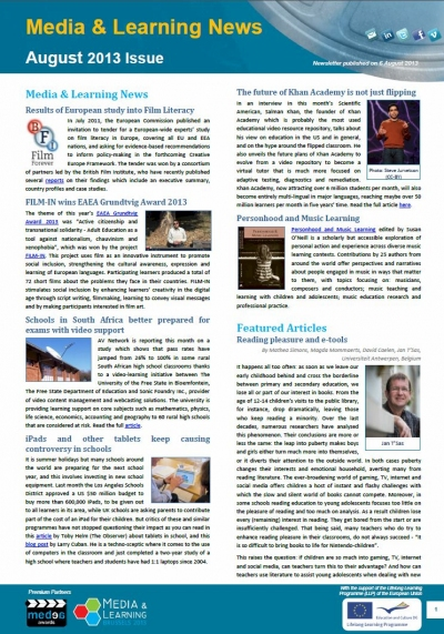 Cover of August Newsletter
