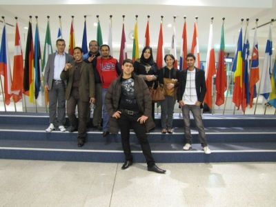 part of the group who visited the European Parliament this week