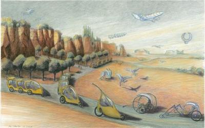 Et si nos villes avaient des ailes? image by Luc Schuiten