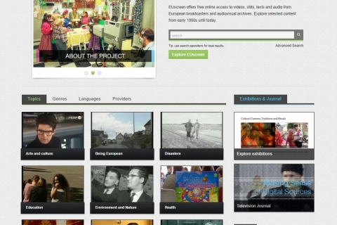 screen shot from EUscreen