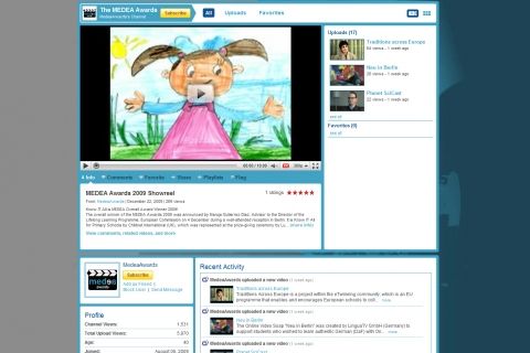 Screenshot of the MEDEA YouTube Channel