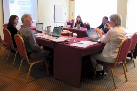 The MEDEA2020 project team during the Waterford meeting