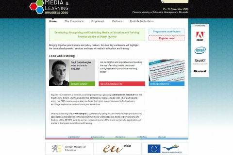 Front Page Media and Learning conference website
