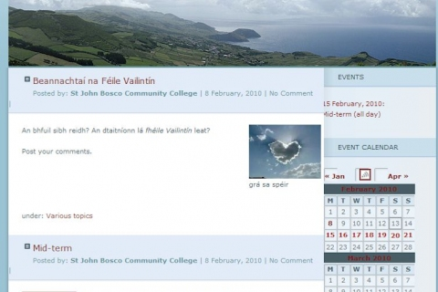 Screenshot from St John Bosco Community School in Clare, one of the SoRuraLL pilot schools