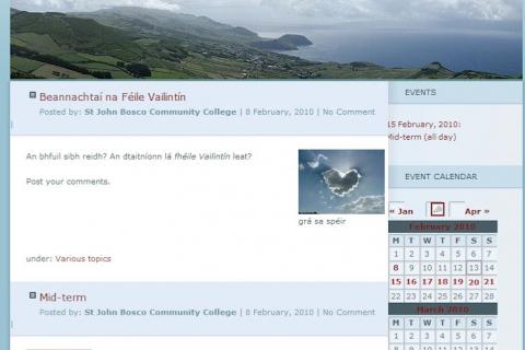 Screenshot from St John Bosco Community School in Clare, one of the SoRuraLL pilot schools