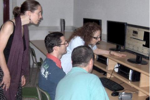 Italian teachers at work editing their videos