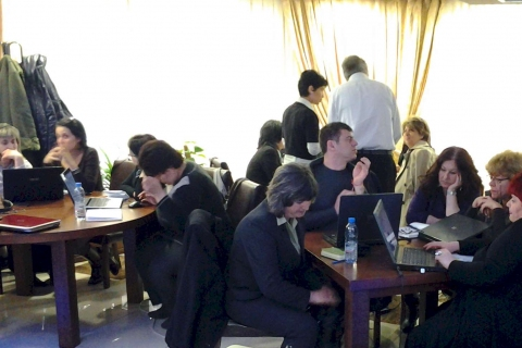 Group working during workshop