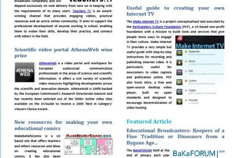Cover February Newsletter Media in Education