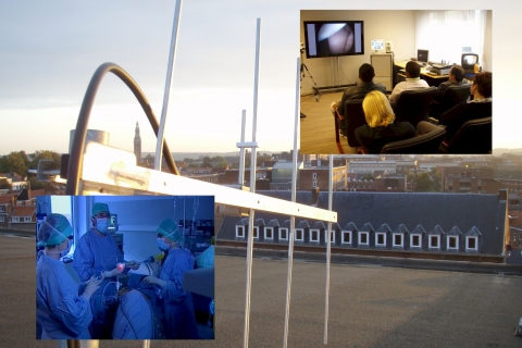 Videotransmission between H Hart Hospital and EAGS