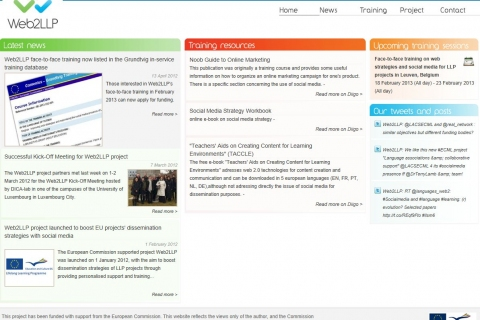 front page of Web2LLP site